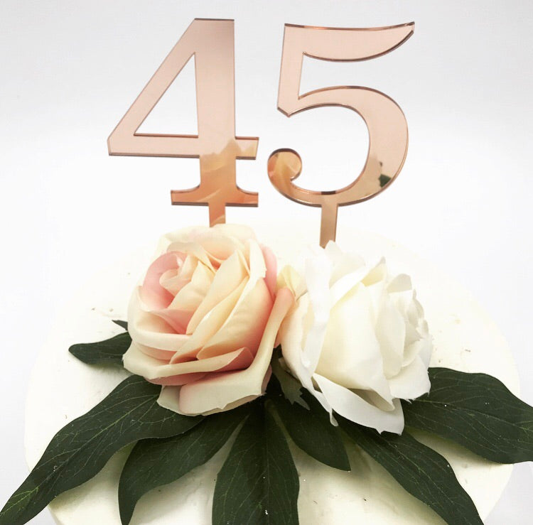Any Age Number Cake Topper