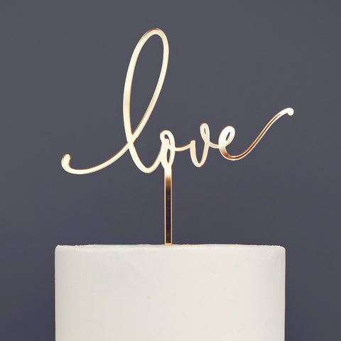 Love, Wedding, Engagement Cake Topper