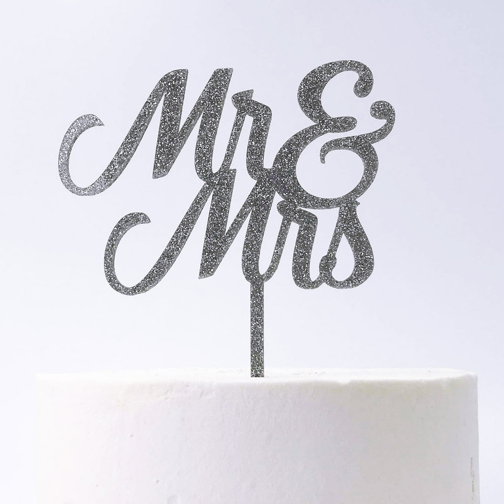 Mr & Mrs Cake Topper