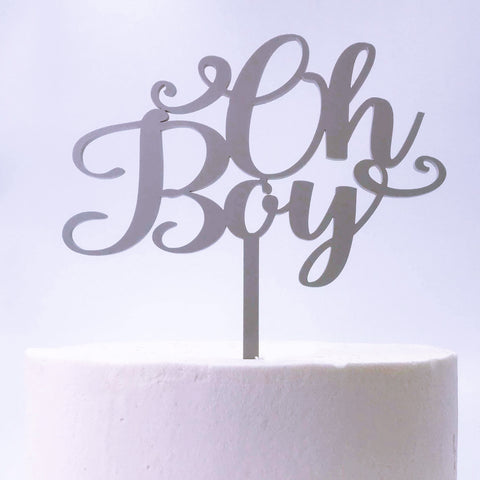 Oh Boy Baby Shower/New Born Cake Topper