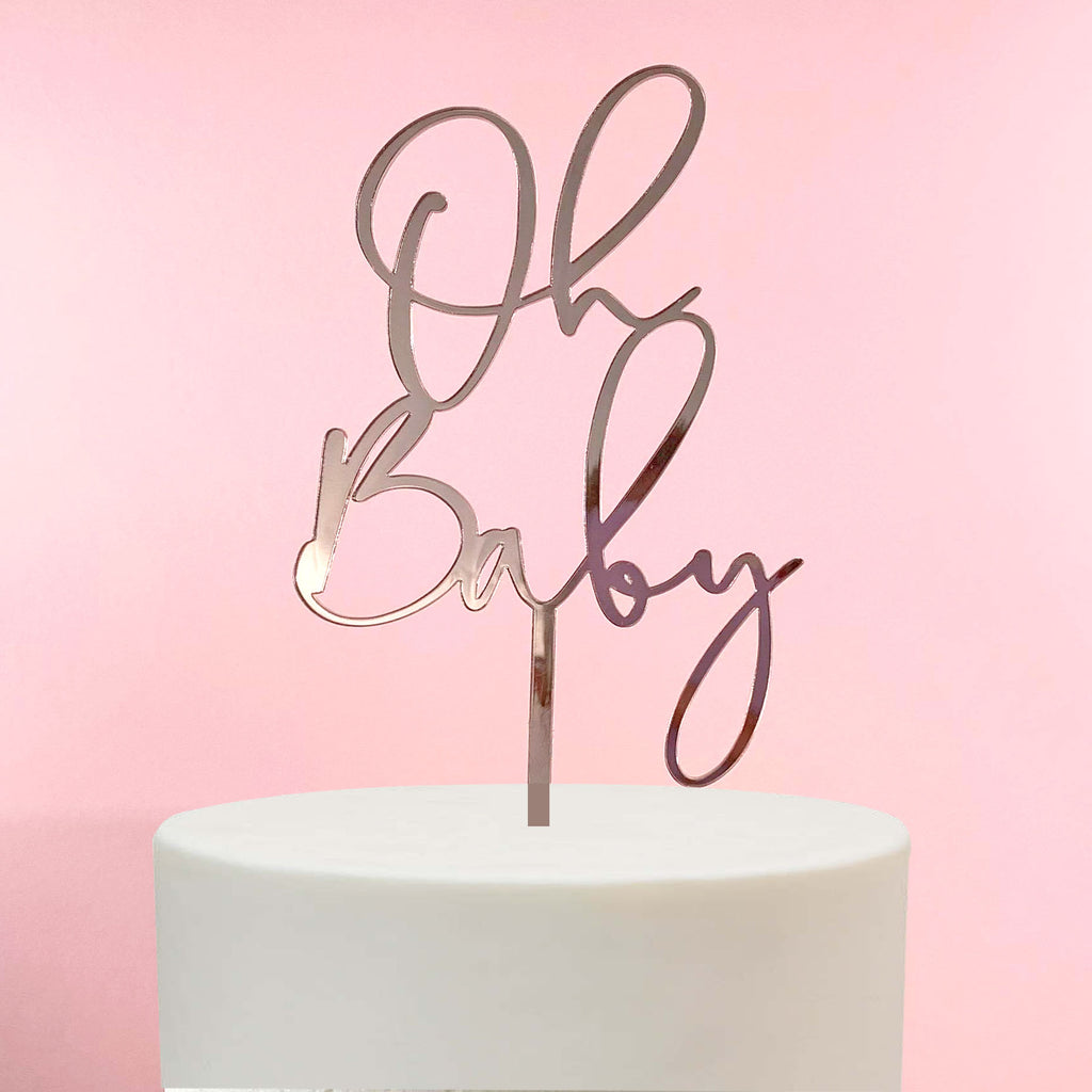 Oh Boy Christening/Baby Shower Cake Topper