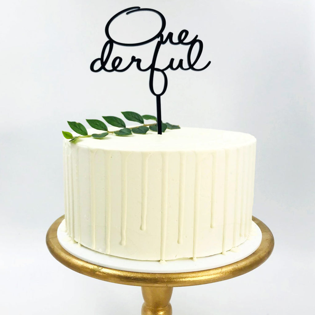 Onederful Cake Topper