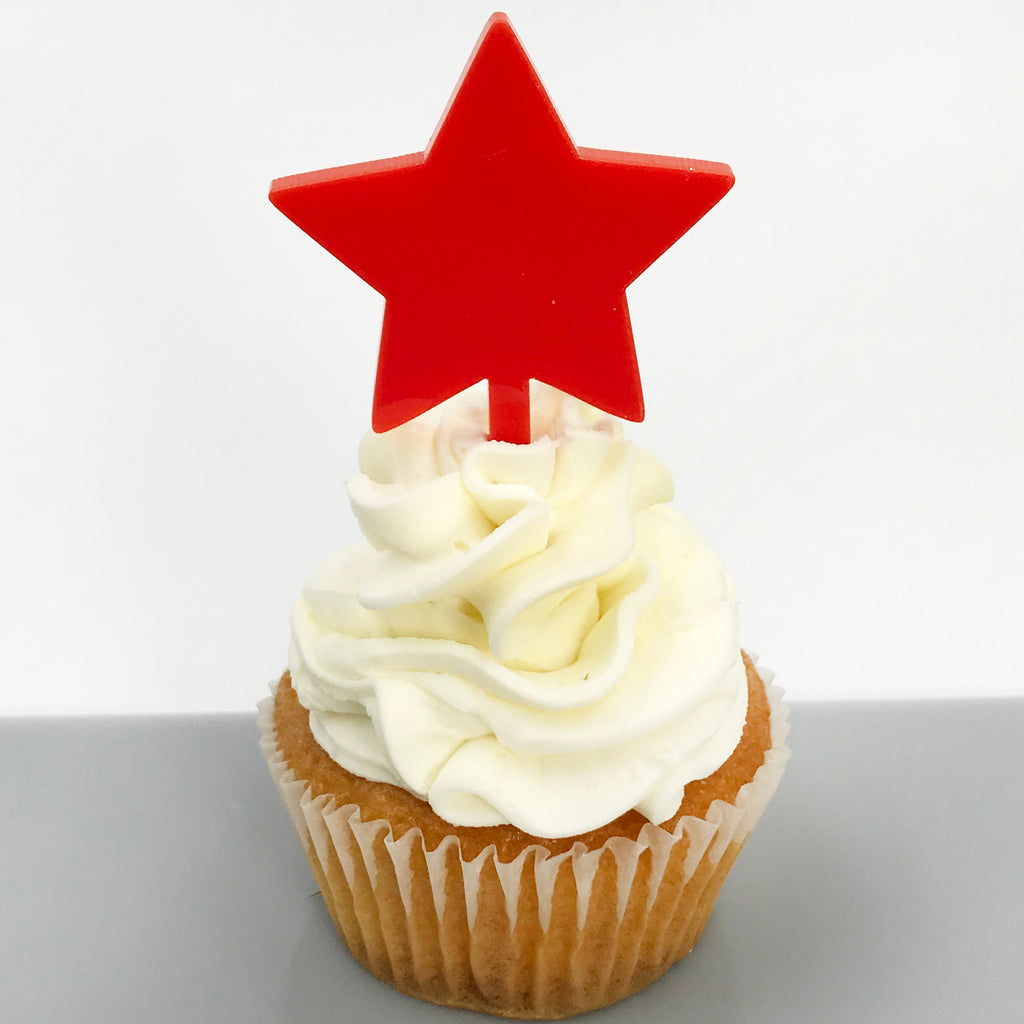 Red Star Cupcake Topper