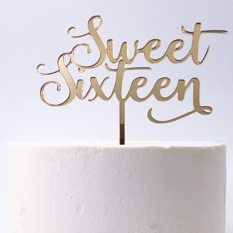 Sweet Sixteen Cake Topper
