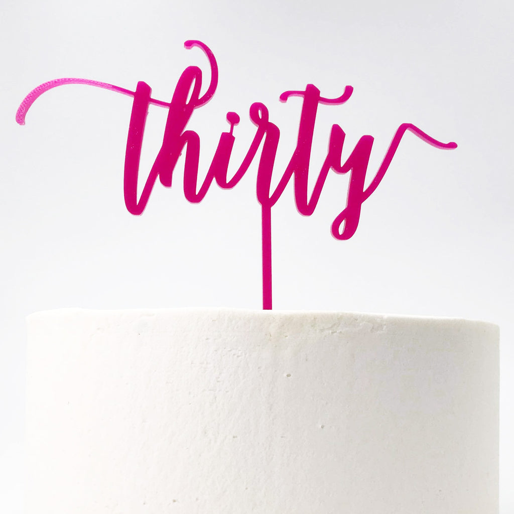 Thirty Birthday Cake Topper
