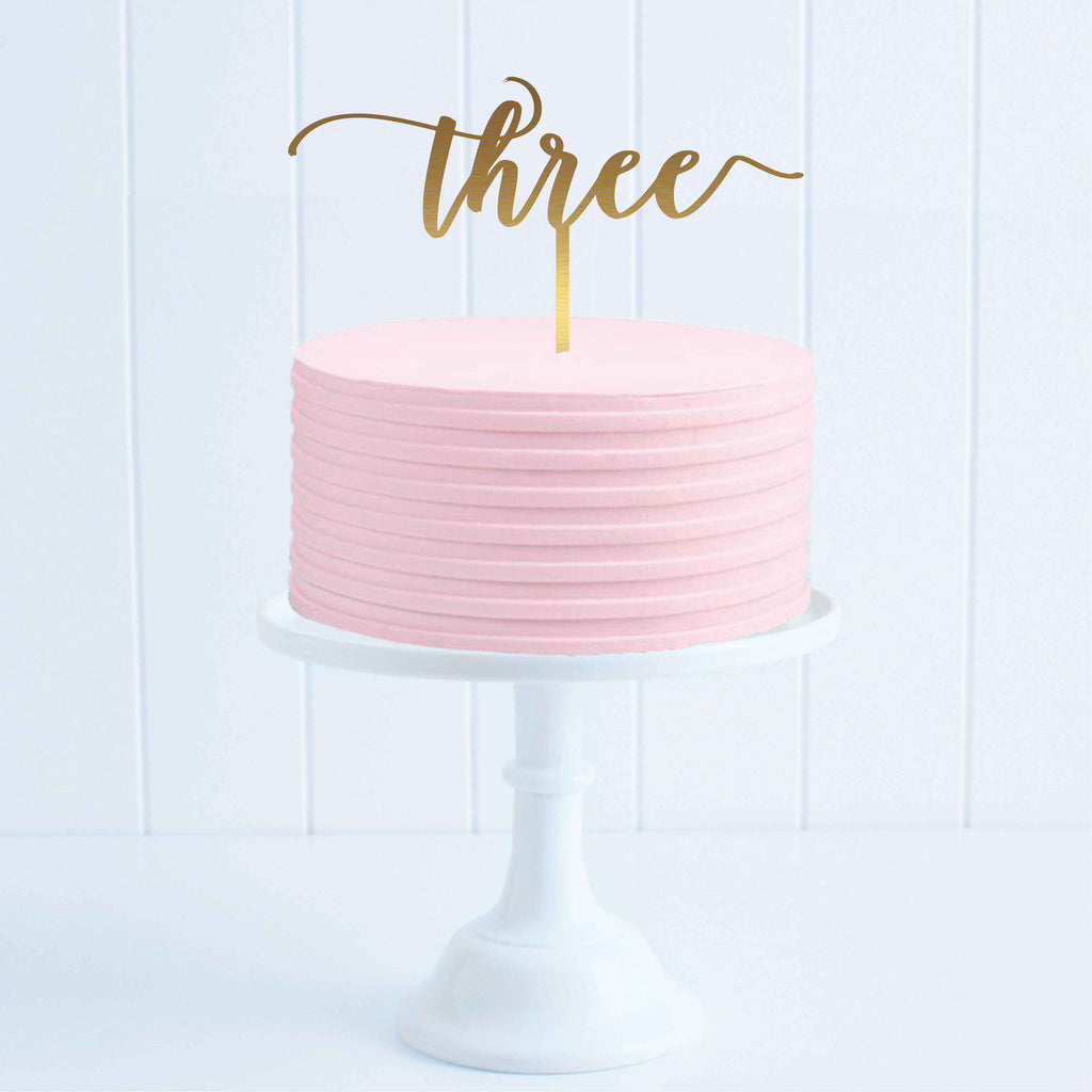 Three Cake Topper
