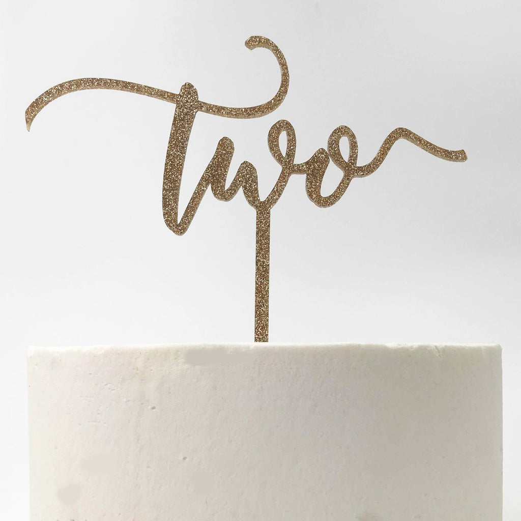 Two Birthday Cake Topper