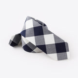Navy Cross Hatch Tie