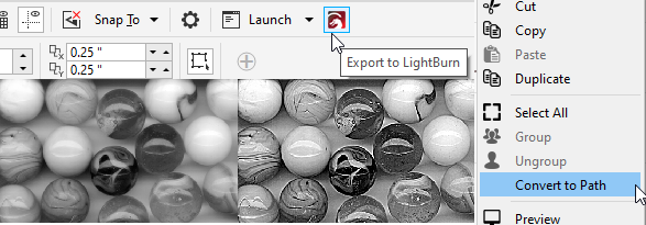 LightBurn 0.9.05 - Variable Text, Image Enhancement, CorelDraw Macro, and much more