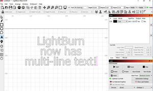 LightBurn v0.6.04: Multi-line text, trace transparent images, and a few fixes