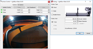 LightBurn v0.6.05: Rotary Support, Workspace Camera, color-matched imports, and Inch mode