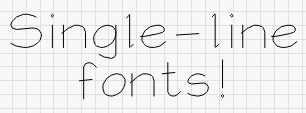 Single-line font example