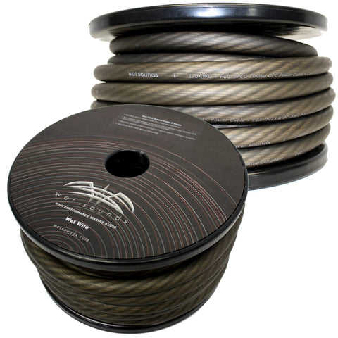 Wet Sounds Red Frost 1/0 Gauge Amp Wire - 50 Ft Spool
