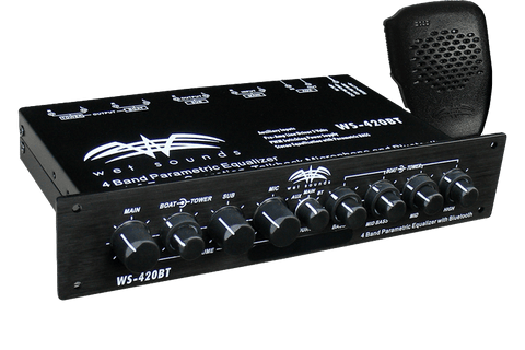 Wet Sounds WS420 BT Marine Audio Multi Zone Equalizer with Integrated Bluetooth - www.wetsounds.com.au