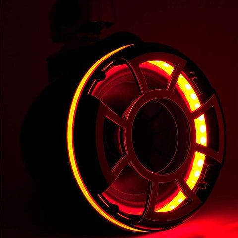 Wet Sounds REV 10 LED Rings - Red - Pair - www.wetsounds.com.au
