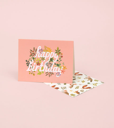 BOTANIC BIRTHDAY CARD – PINK