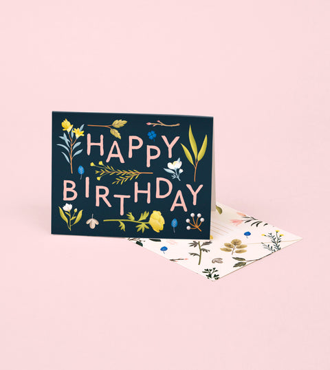 PLANT VARIETY BIRTHDAY CARD – NAVY