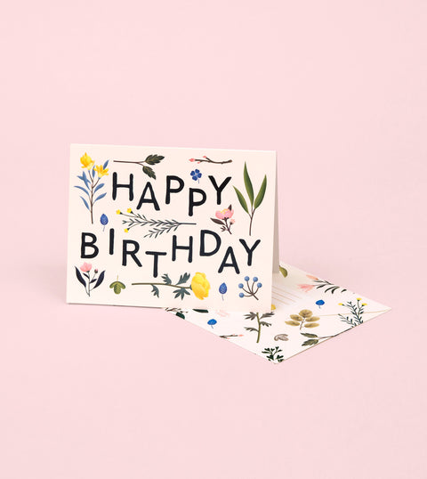 PLANT VARIETY BIRTHDAY CARD – IVORY