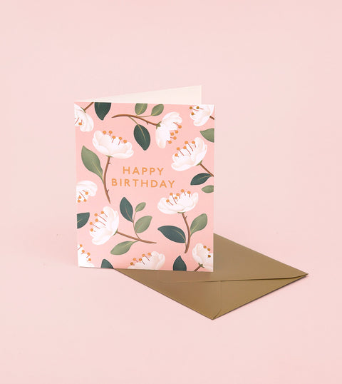 MAGNOLIA BIRTHDAY CARD – BLUSH