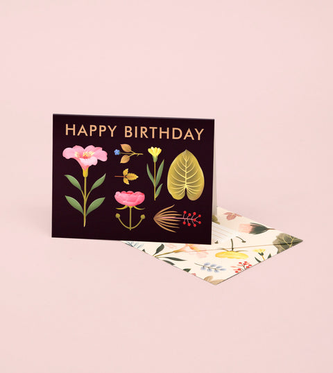 LUSH BOTANY BIRTHDAY CARD – BLACK