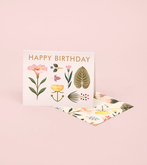 LUSH BOTANY BIRTHDAY CARD – CREAM