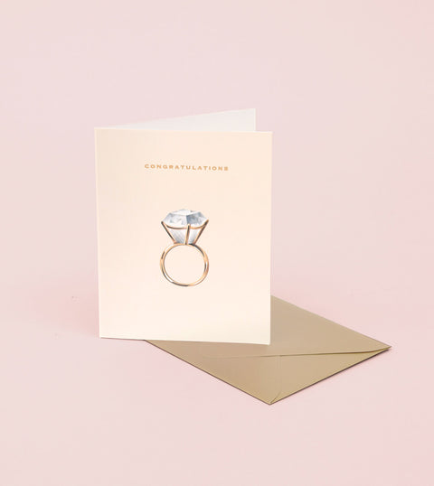 DIAMOND RING CONGRATULATIONS CARD