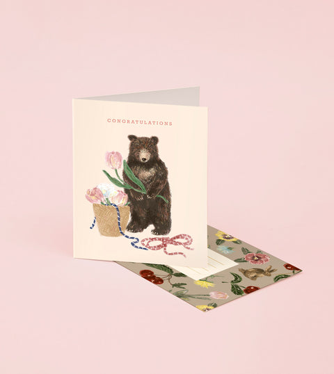 BABY BEAR CONGRATULATIONS CARD