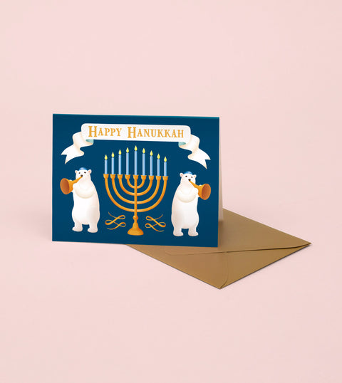 POLAR BEARS HANUKKAH CARD