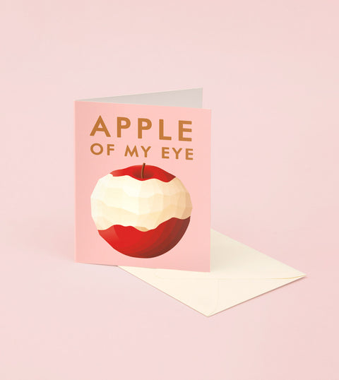 APPLE OF MY EYE LOVE CARD