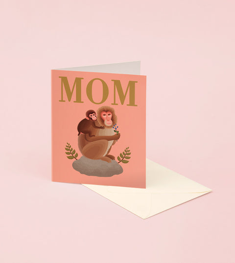 MOM AND BABY MONKEY HAPPY MOTHER'S DAY CARD