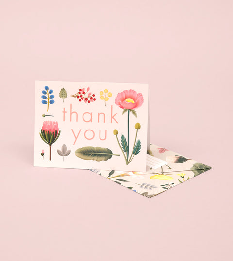 SPRING BLOOM THANK YOU CARD – CREAM