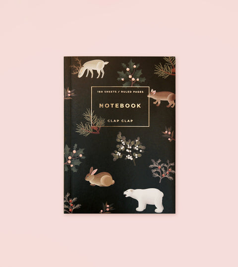 WILD ANIMALS NOTEBOOK - BLACK