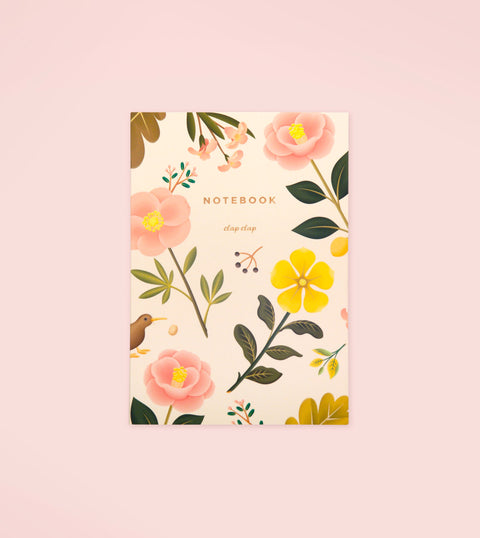 GARDEN BLOOM NOTEBOOK – CREAM