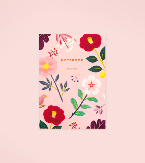 GARDEN BLOOM NOTEBOOK – BLUSH