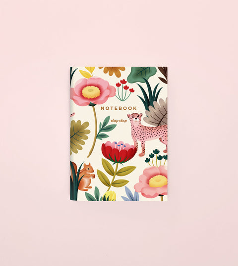 ANIMAL KINGDOM POCKET NOTEBOOK - CREAM