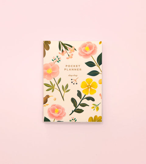 GARDEN BLOOM POCKET PLANNER – CREAM