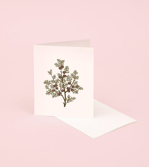 BOTANICAL SCENTED CARD – HINOKI