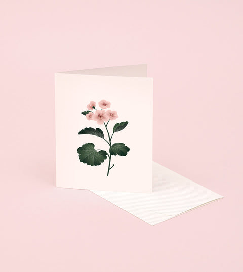 BOTANICAL SCENTED CARD – GERANIUM