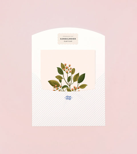 BOTANICAL SCENTED CARD – SANDALWOOD
