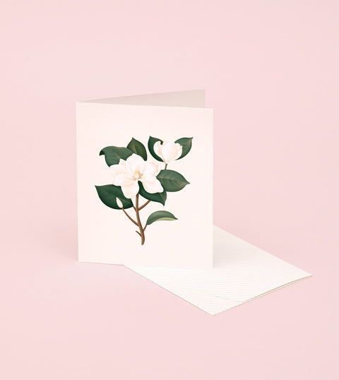 BOTANICAL SCENTED CARD – MAGNOLIA