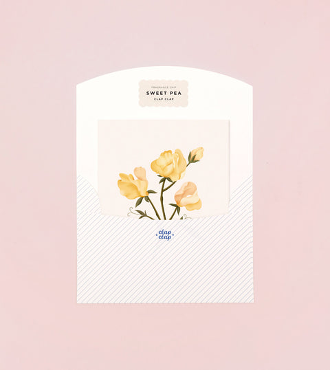 BOTANICAL SCENTED CARD - SWEET PEA