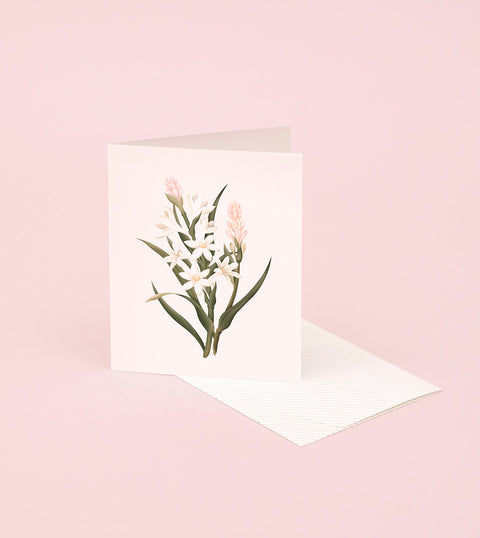 BOTANICAL SCENTED CARD - TUBEROSE