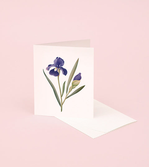 BOTANICAL SCENTED CARD – IRIS