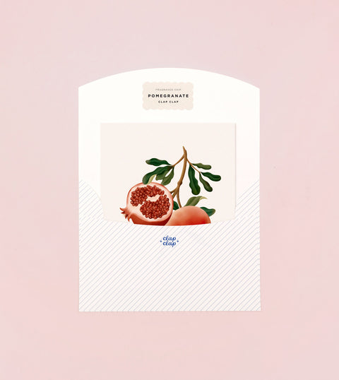 BOTANICAL SCENTED CARD – POMEGRANATE