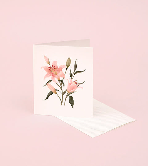 BOTANICAL SCENTED CARD – ORIENTAL LILY
