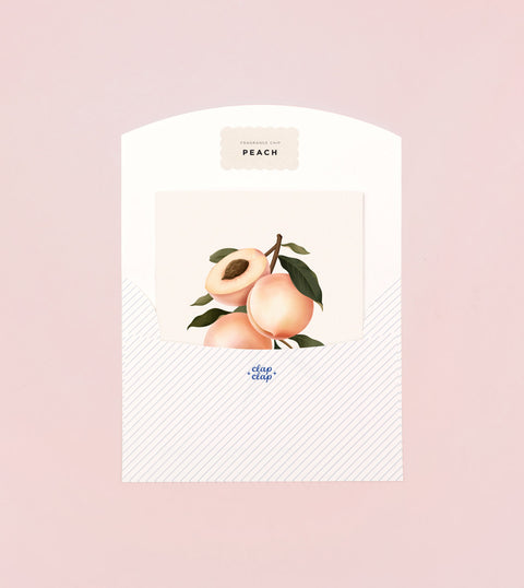 BOTANICAL SCENTED CARD – PEACH
