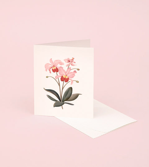 BOTANICAL SCENTED CARD – ORCHID