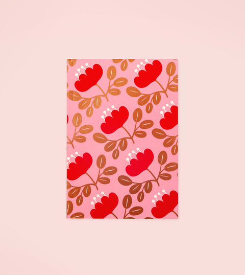 BLOSSOM GOLD PLANNER - RED PETAL