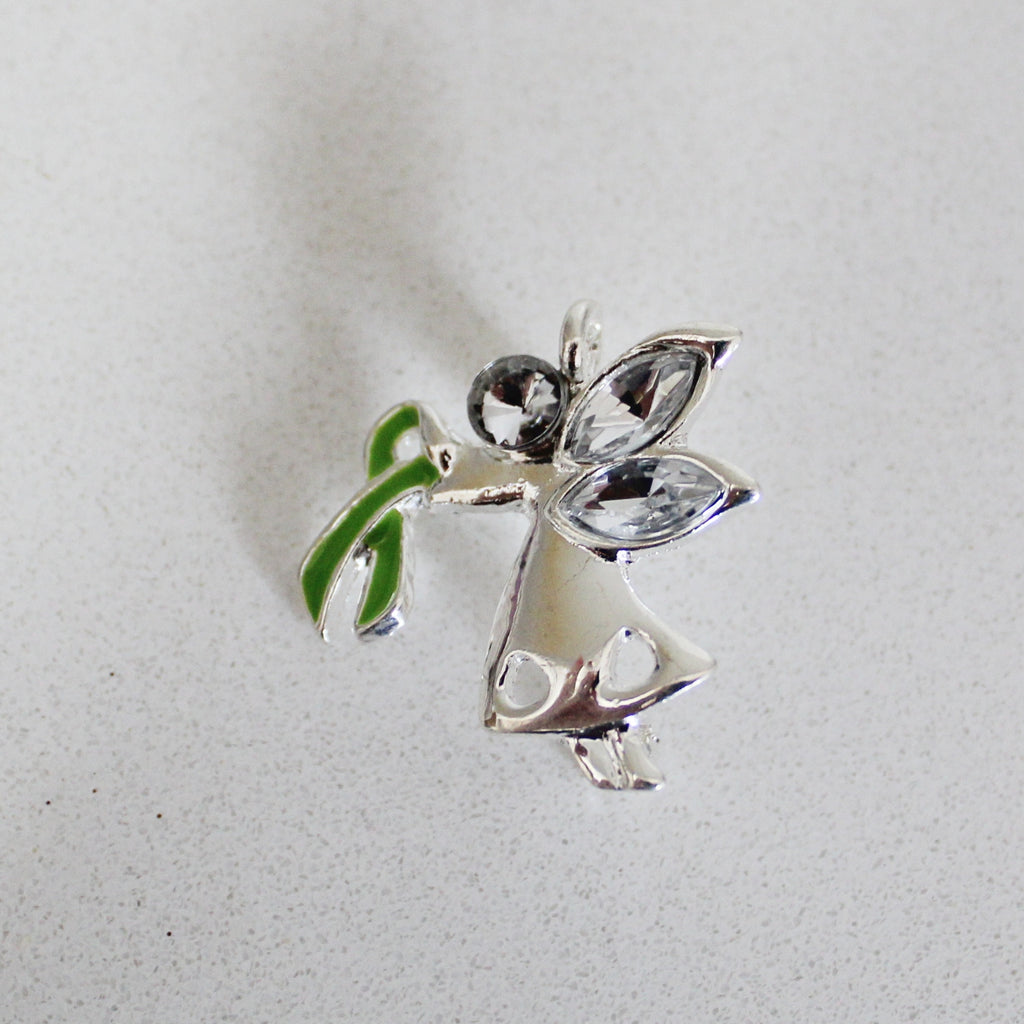 Lyme Awareness Angel Pin