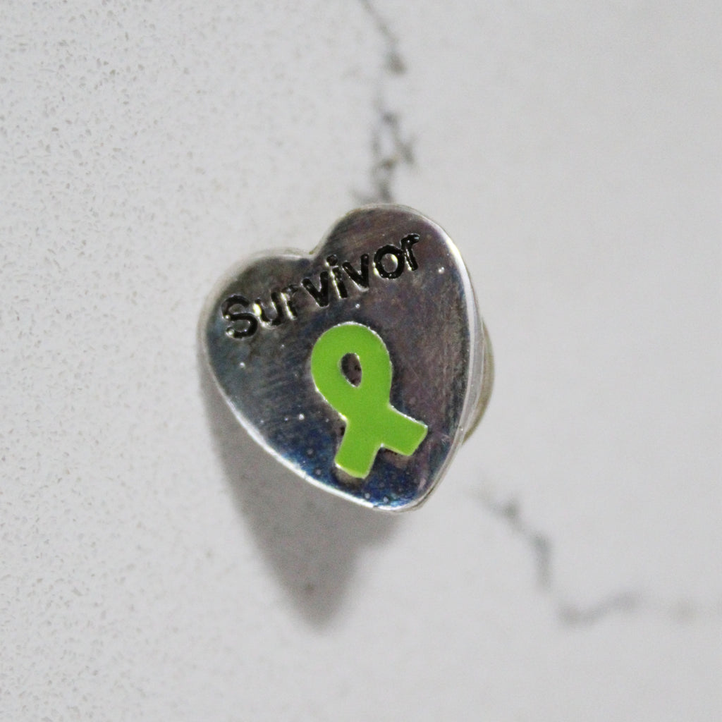 Lyme Awareness Survivor Heart Pin